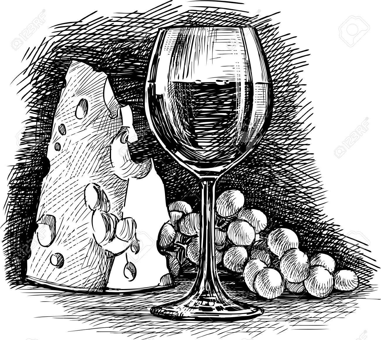 Related image Vine drawing, Wine glass drawing, Wine