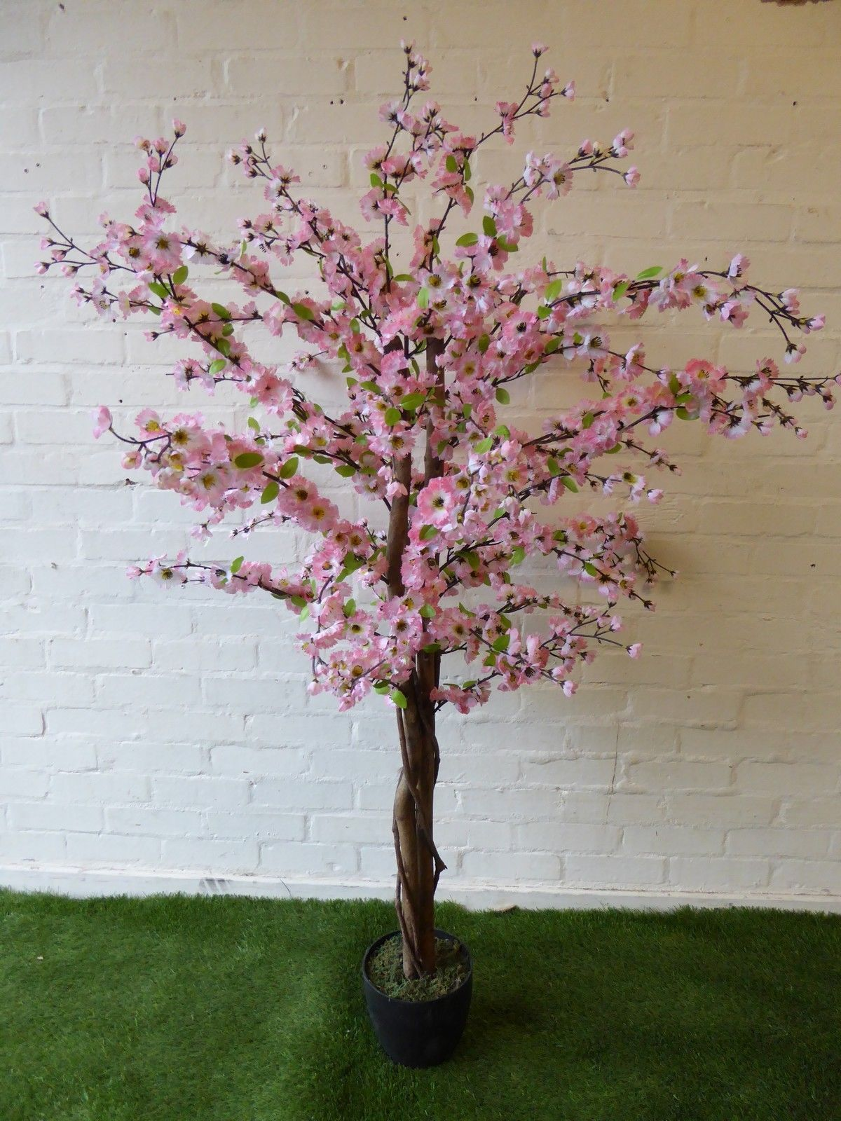 Large Artificial Pink Blossom Tree In A Pot 5ft 1 7m Indoor Outdoor Tree Plant 5055576404221 Ebay Pink Blossom Tree Artificial Cherry Blossom Tree Blossom Trees
