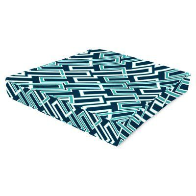 Jordan Manufacturing Fiji 24 in. Boxed Outdoor Chair Cushion - Jasper Ocean - HN230PK1-3797D