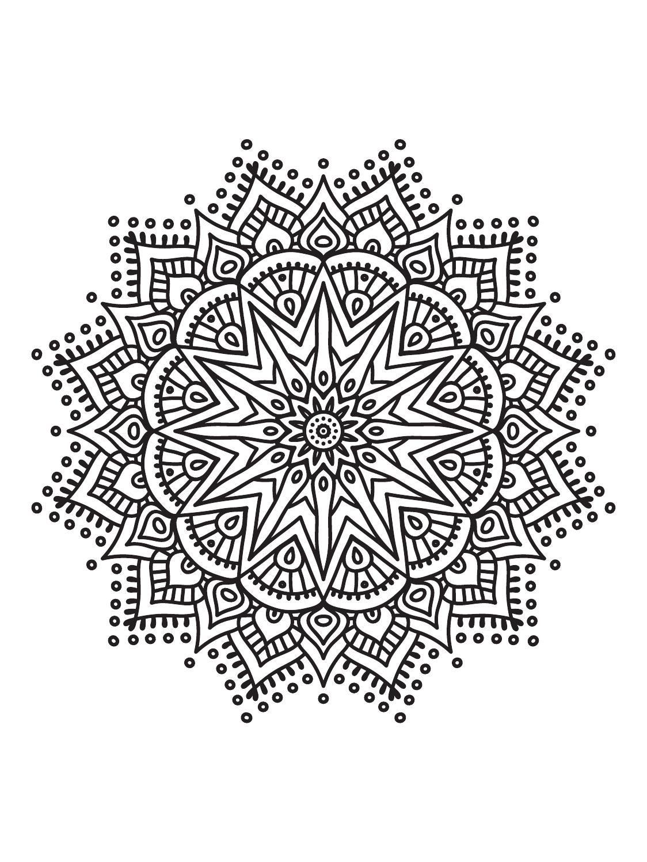 Mindfulness Mandalas Nº1   Mandala coloring pages, Mandala ...