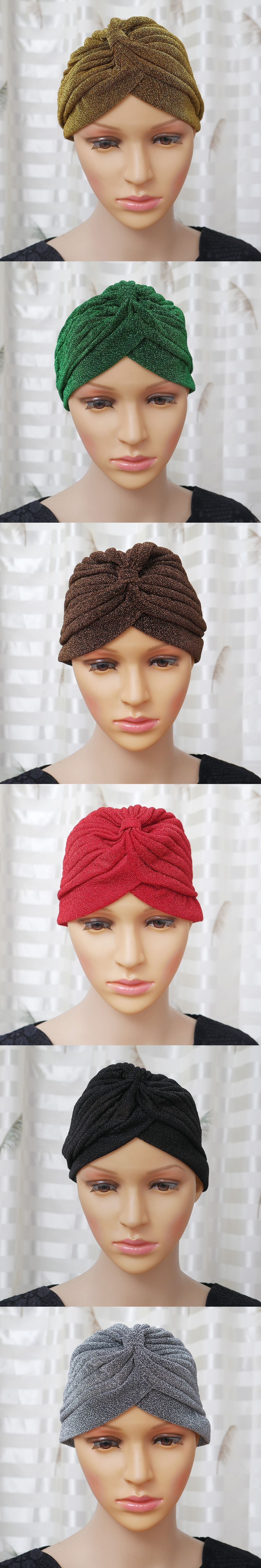 997f59a2333 1x Men Women Trendy Stretchable Soft Indian Style Turban Hat Head Wrap Band  Cap