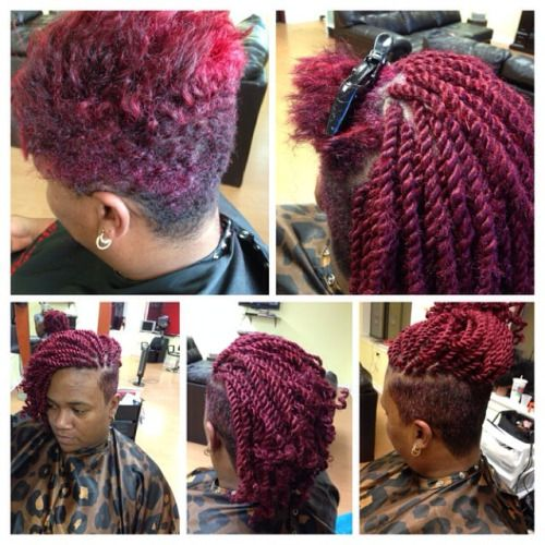 undercut and box braids - google