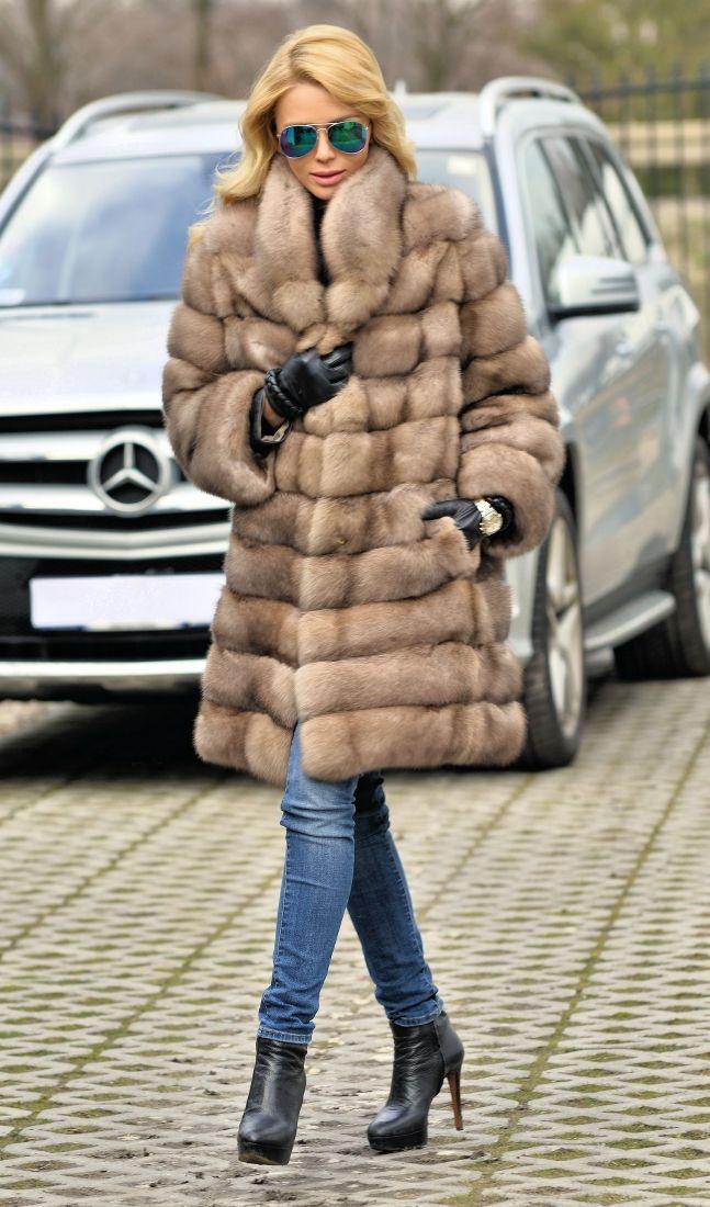 sable furs - new natural tortora russian sable fur coat