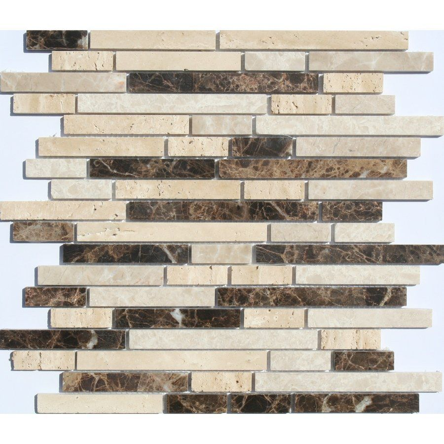 faber 12in x 14in sandalwood freeway blends mosaic natural stone wall tile