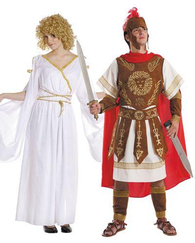 3d5c02aad Disfraces de #romanos. Disfraces para parejas de romana y gladiador ...