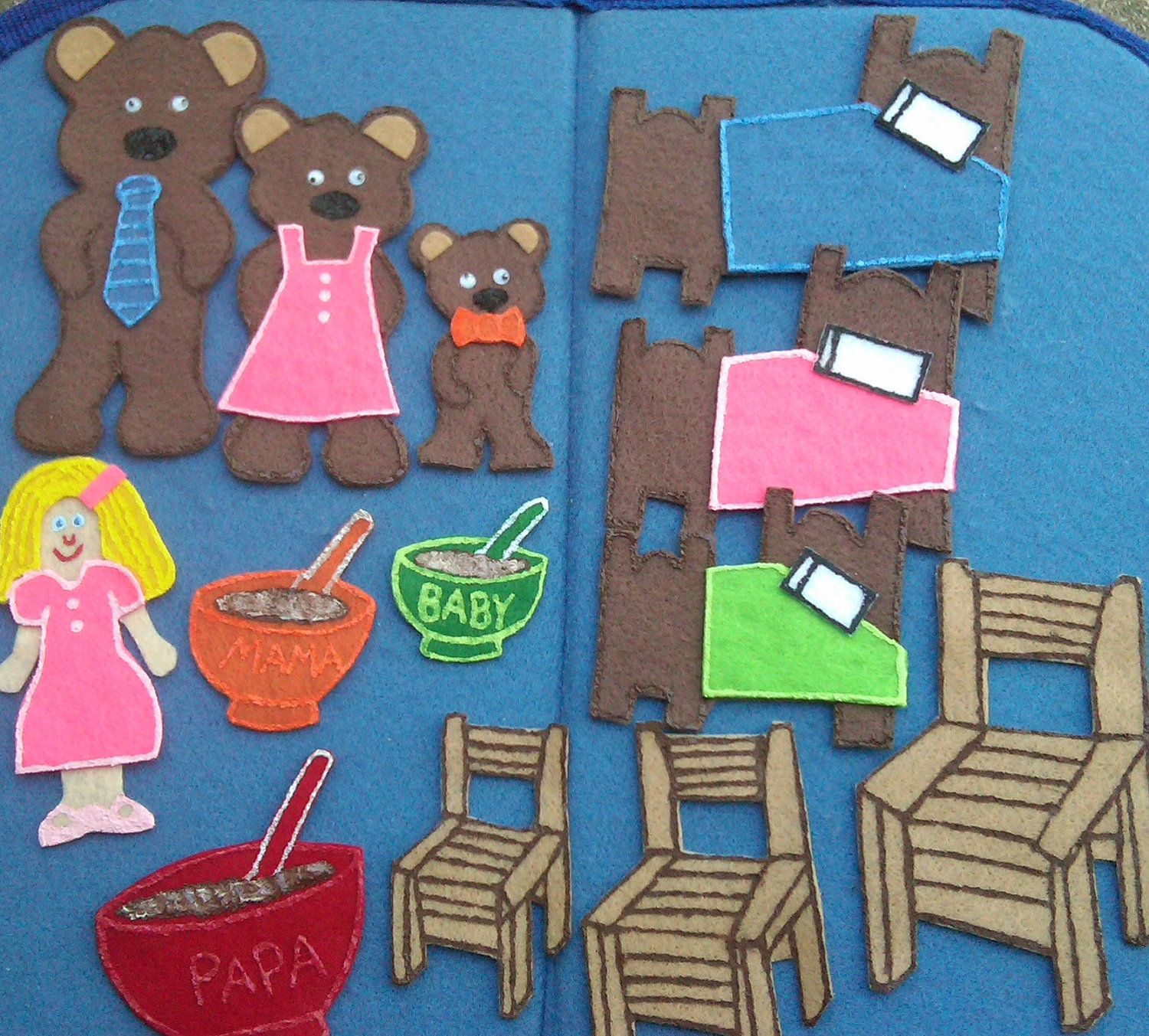 Goldilocks And The Three Bears Flannel Board By Funfeltstories