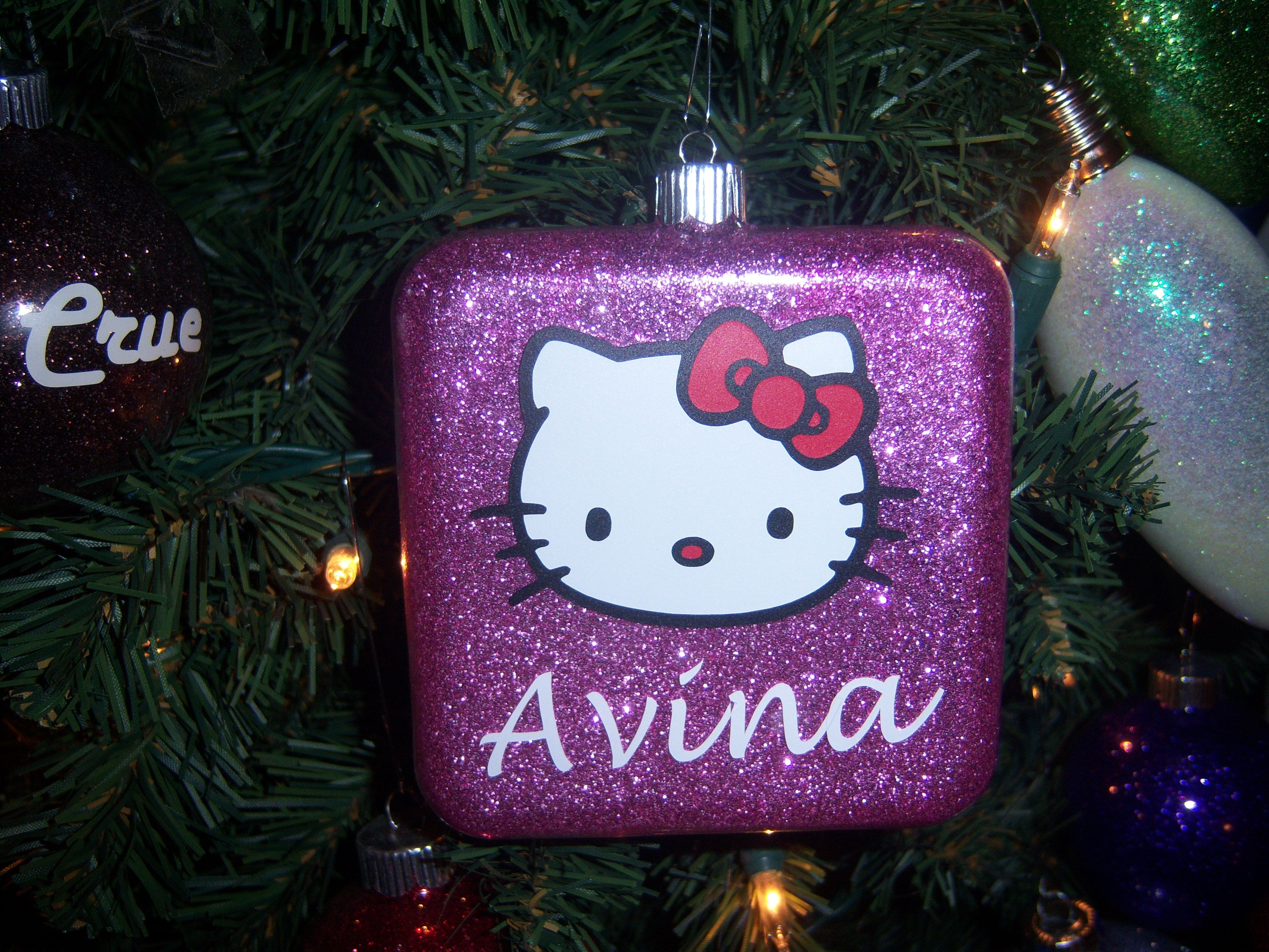 Hello Kitty Christmas ornament I made for my Granddaughter