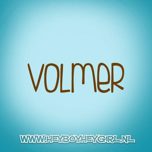Volmer (Voor meer inspiratie, en unieke geboortekaartjes kijk op www.heyboyheygirl.nl)