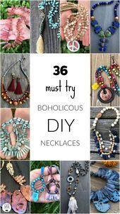 Photo of 36 Boholicious Necklace Tutorials Create fantastic boho jewelry with h …
