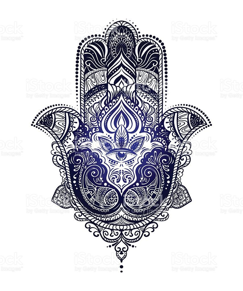 hand drawn ornate amulet hamsa hand of fatima ethnic amulet common tattoo ideen. Black Bedroom Furniture Sets. Home Design Ideas