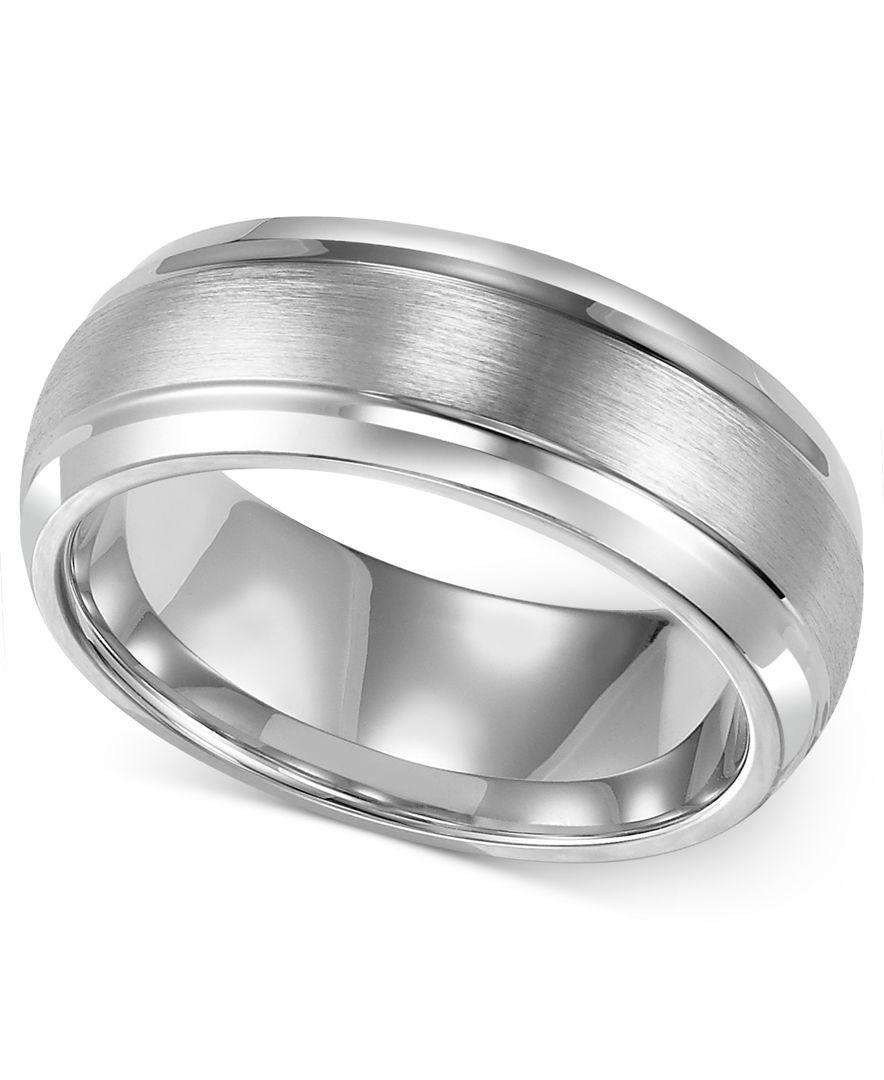 Expensive Wedding Gifts: Men's Cobalt Ring, 8mm Wedding Band