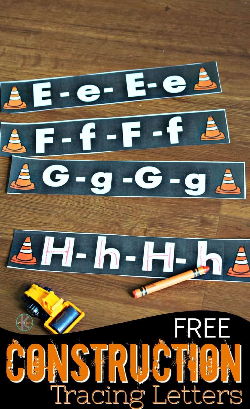 Free Construction Tracing Letters