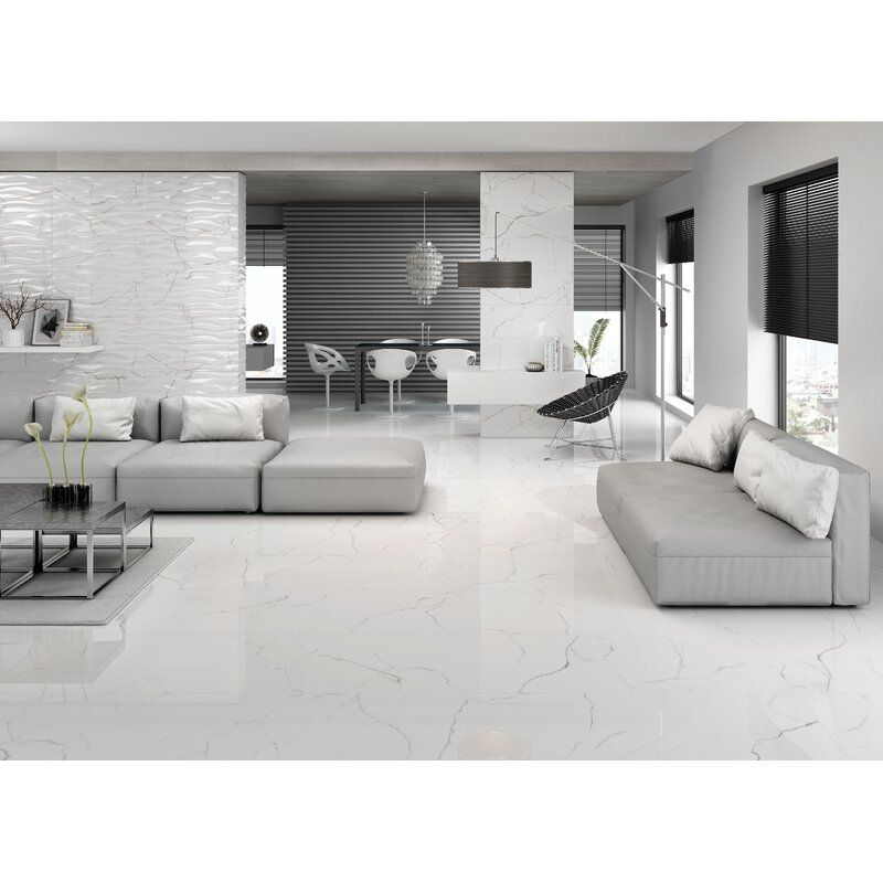 Sculpture 12 X 24 Porcelain Stone Look Wall Floor Tile In 2020 White Floors Living Room Tile Floor Living Room Luxury Living Room Design