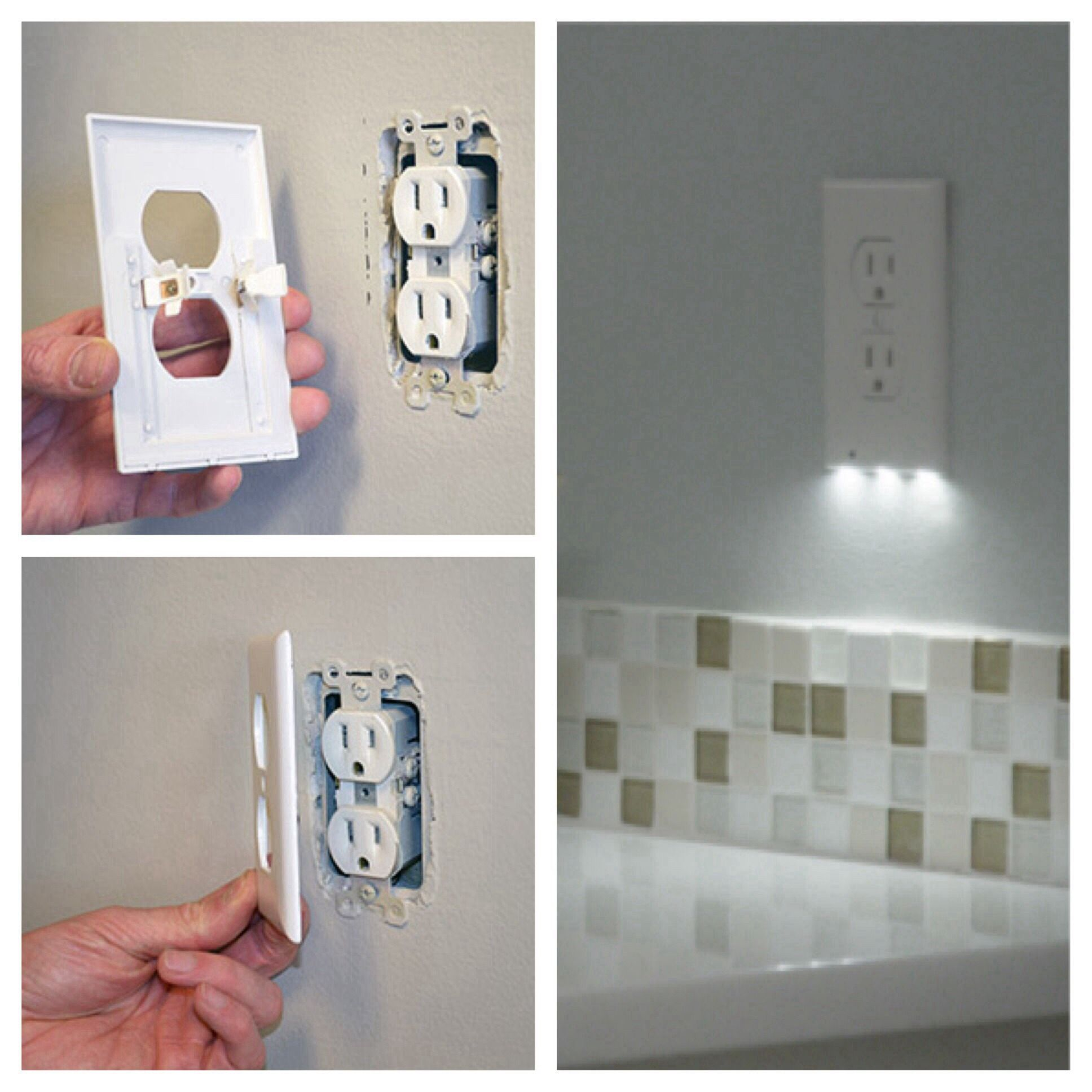 This Outlet Cover Is Also A Nightlight Genius Outlet Covers