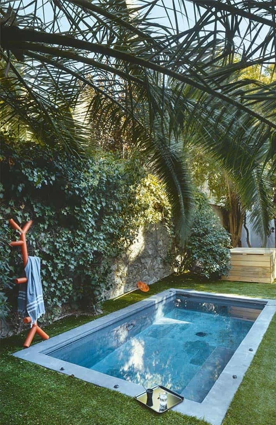 Affordable Small Backyard With Plunge Pool Ideas Decor Renewal Small Swimming Pools Small Pool Design Small Backyard Pools