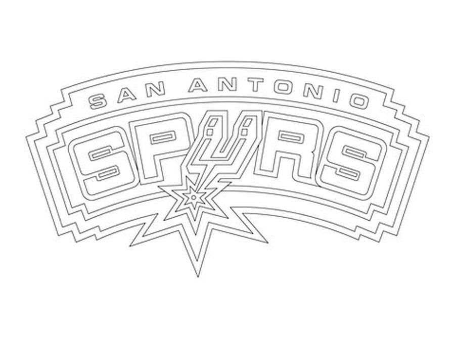 San Antonio Spurs logo NBA coloring pages Sports Coloring Pages