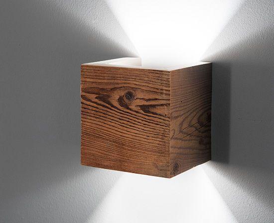 Moderne Wandleuchte / Aluminium / Holz / LED CARIN