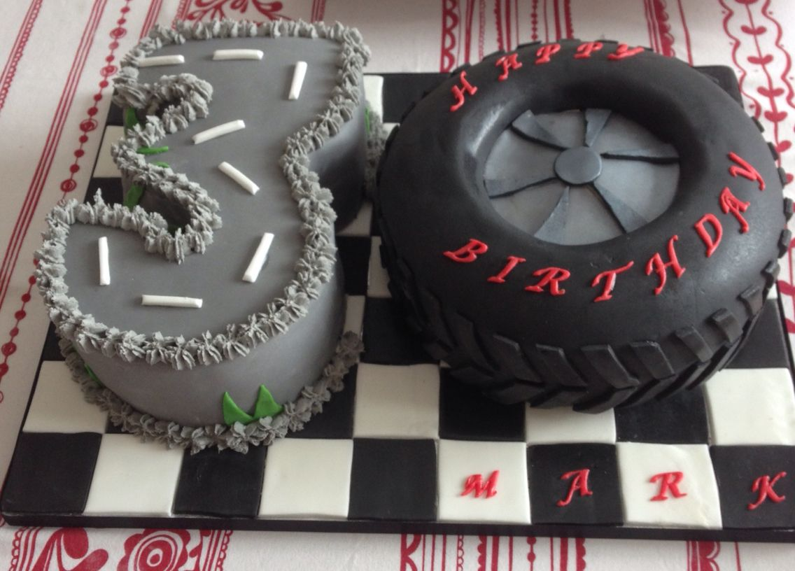 30 Number Cake Man Birthday For Boys Tyre 3