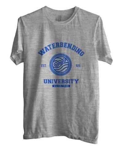 1c6ce0b8 Waterbending University Blue ink print Avatar Water Bender Men T-shirt - Meh.  Geek