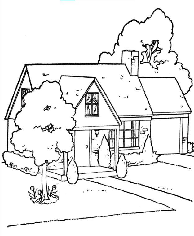 Gambar Untuk Mewarnai Rumah : gambar, untuk, mewarnai, rumah, 36color.com