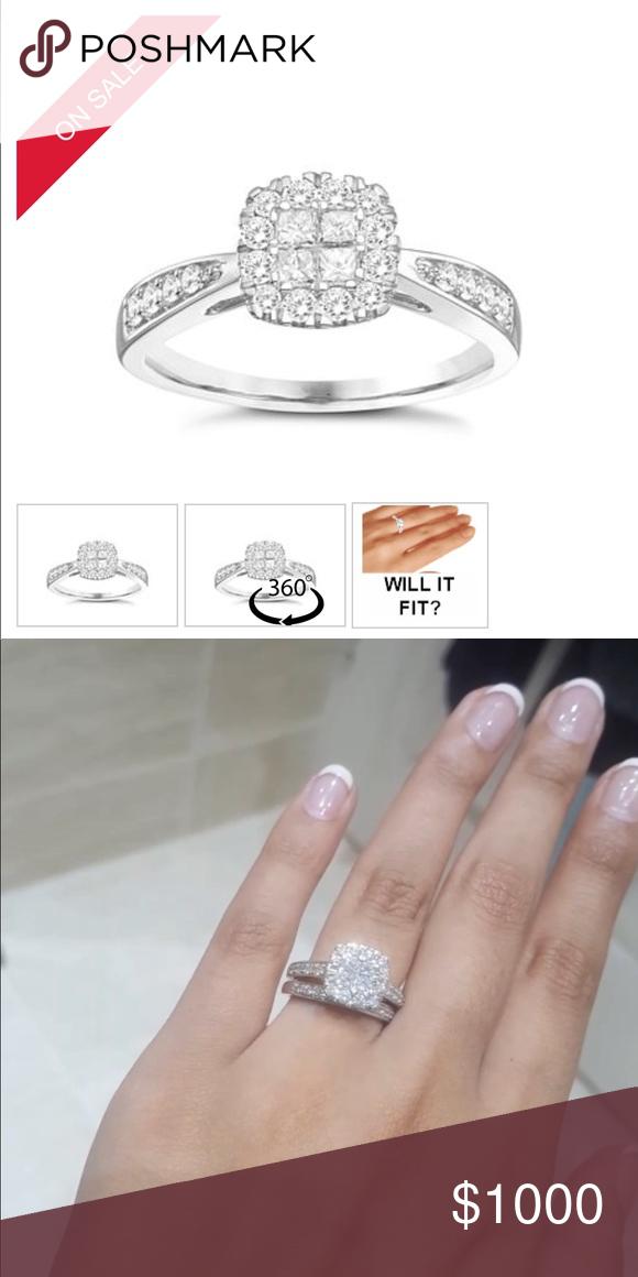 Diamond Wedding Ring 9k Crystallised Diamond Wedding Ring Plus Band Ernest Jones Jewelry Rings Rings Diamond Diamond Wedding Rings