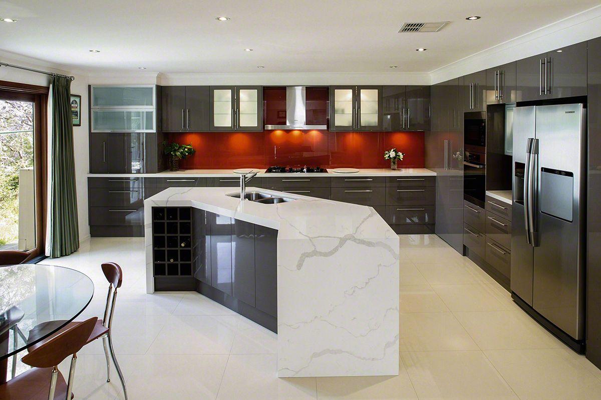 White Subway Tile Kitchen Backsplash Quartz Counter