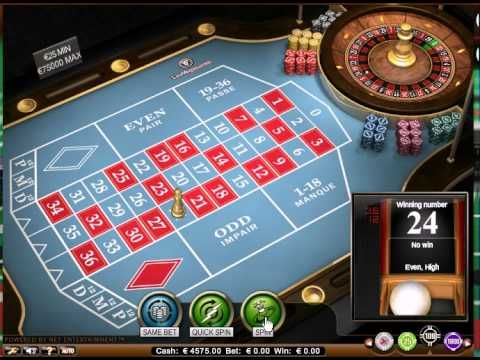 Vip french roulette