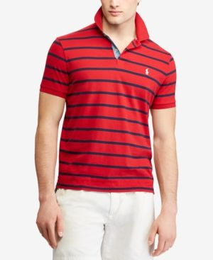 5f9a46daf Polo Ralph Lauren Men's Big & Tall Classic Fit Striped Polo - Red 4XB
