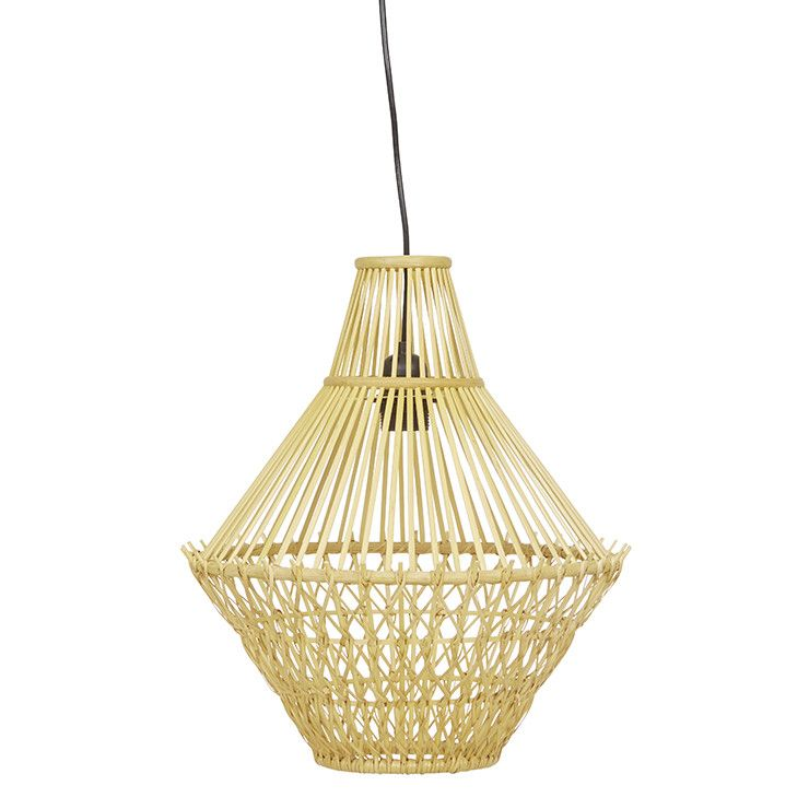 Globewest Arabella Diamond Pendant Natural Rattan
