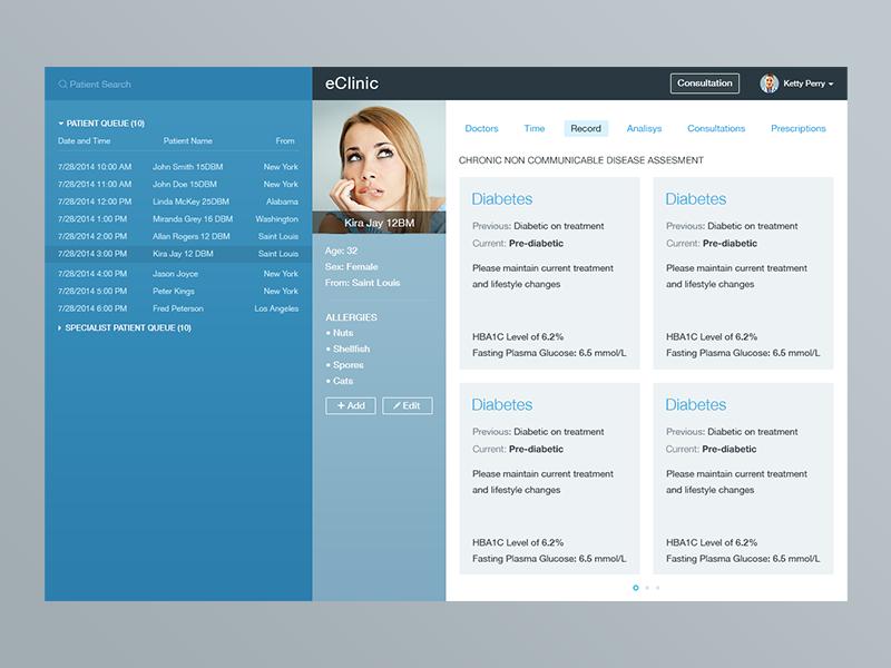 Medical Web App Concept App Interface Design Web App Web Development Design