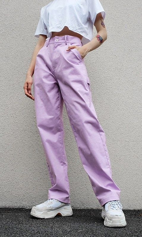 Photo of High Waist Pastel Trousers