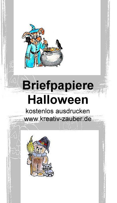 halloween briefpapier kostenlos ausdrucken  kreativzauber