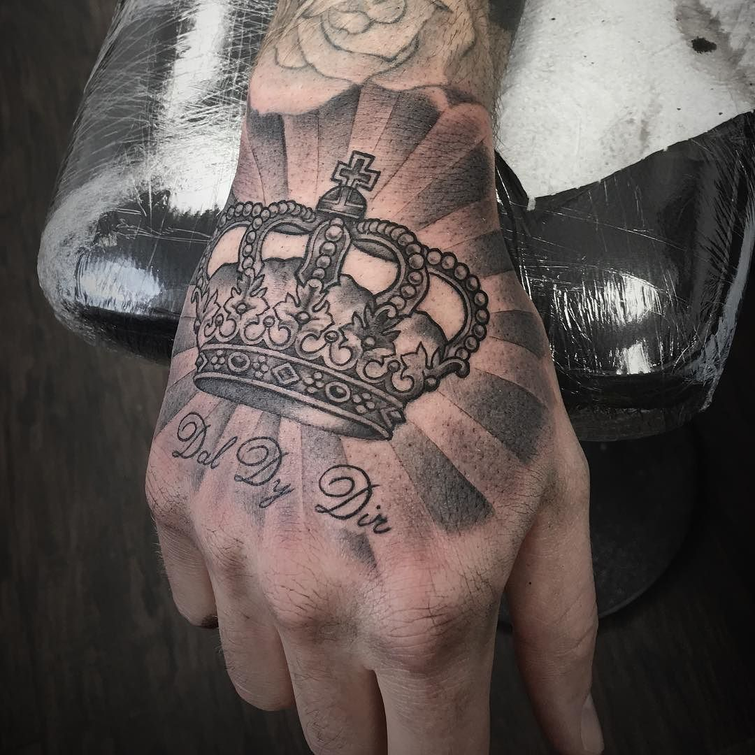 Tattoo Crown On Hand Hand Tattoos For Guys Crown Hand Tattoo Crown Tattoo