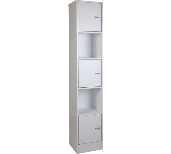 Home Tall Bathroom Storage Unit White At Argos Co Uk Your