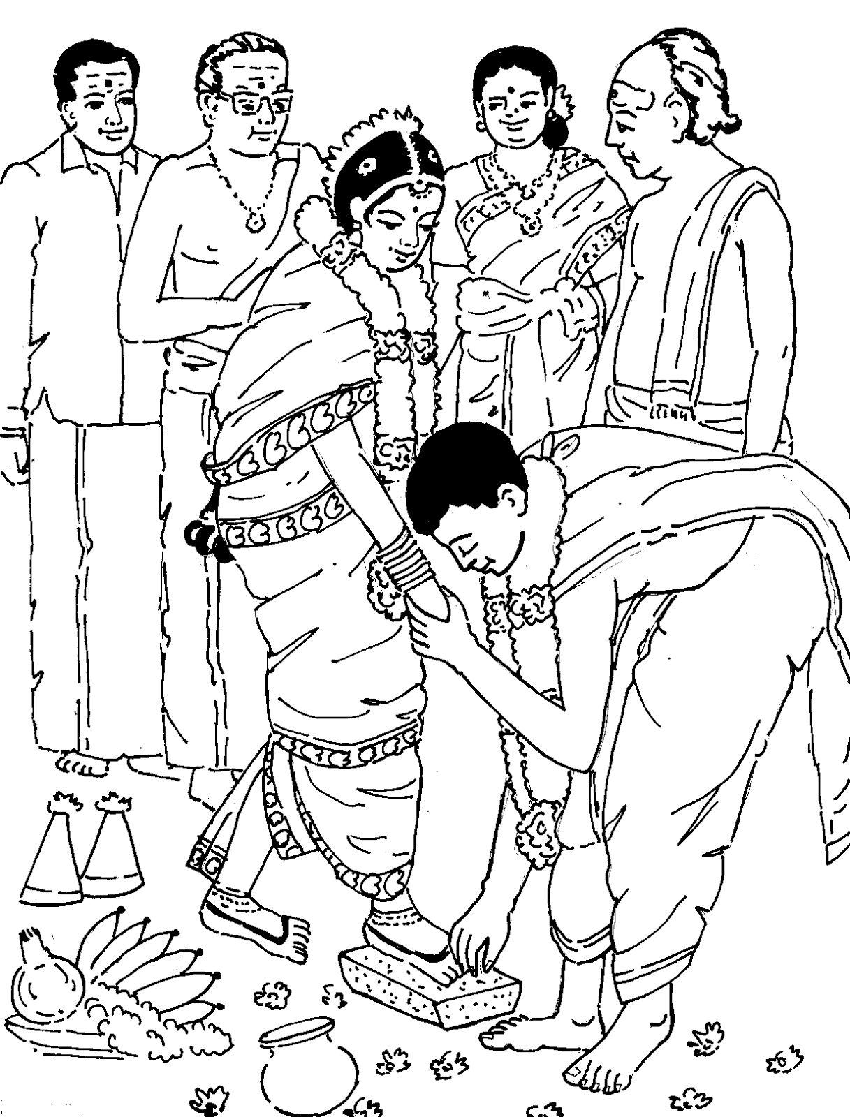 Tamil Cliparts: Printing Line art - 4 ( Wedding and ...