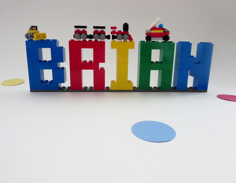lego name sign kids room decor lego bricks name letters shelf decor birthday - Brick Kids Room Decor