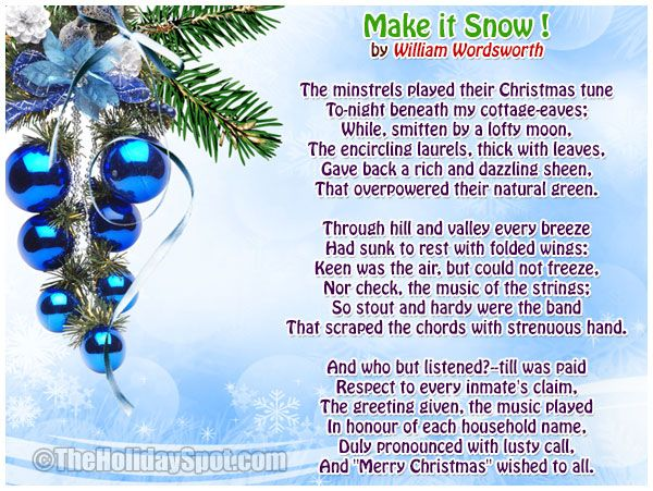Christmas poetry with images to share - Google Search | Poetry ...