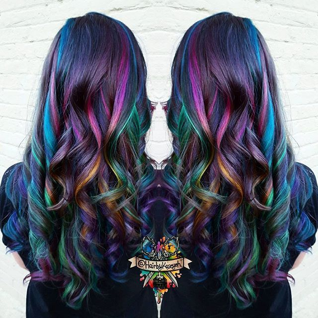 Galaxy Hair Hairstyles Pinterest Galaxy Hair Hair