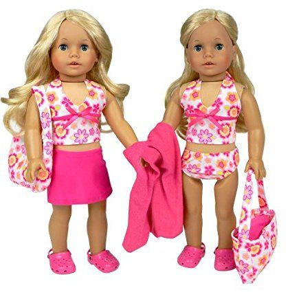 Polka Dot Bikini Swimsuit-Towel 18 in Doll Clothes Fits American Girl