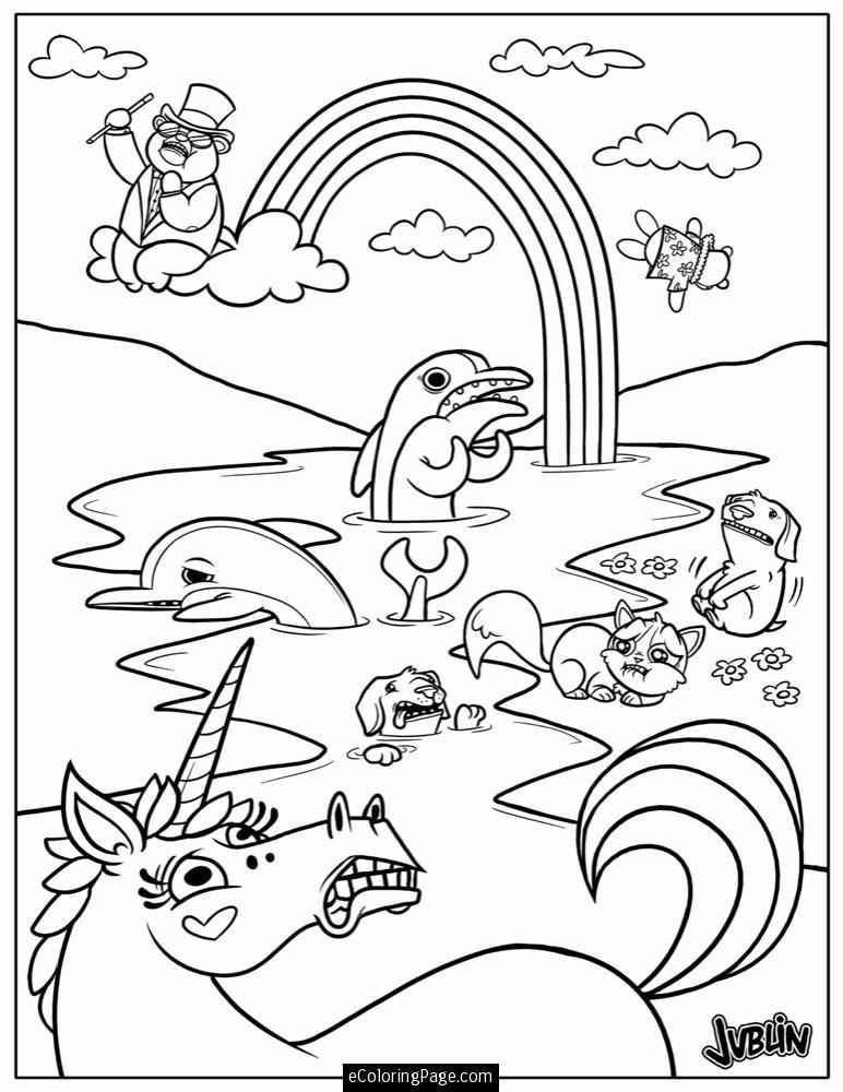 unicornanimalsandrainbowcoloringpageprintable1.gif