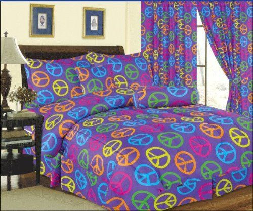 Exceptionnel Purple Peace Sign Bed In A Bag  Twin By WPM