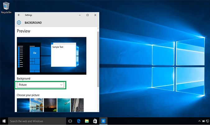 How To Change Your Desktop Background In Windows 10 Desktop Wallpaper Size Wallpaper Size Desktop