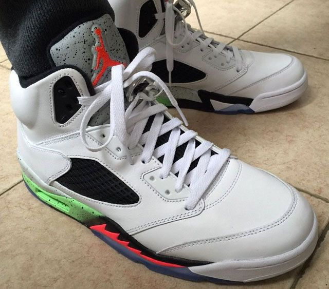 detailed pictures 61c46 7c096 ... low cost air jordan v 5 retro white infrared 23 light poison green  black 136027 115