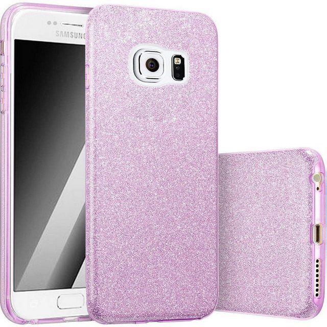 Finoo Smartphone-Hülle »3 in 1 Glitzer Handyhülle für das Samsung Galaxy S6 in Lila« online kaufen | OTTO