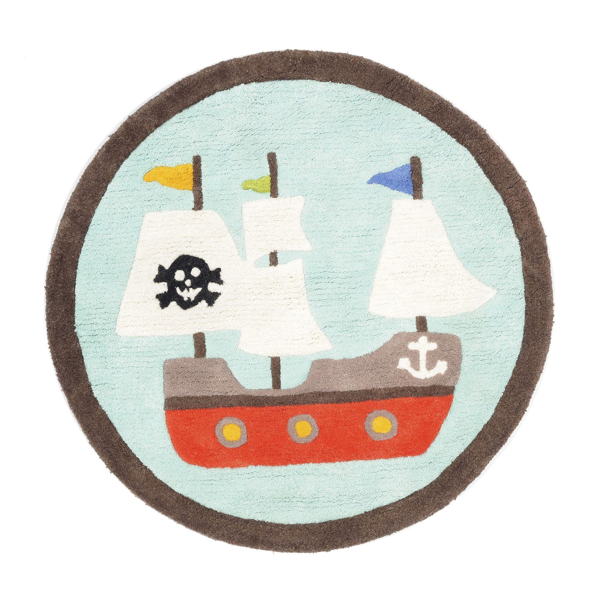 Tapis rond enfant Bleu Pirate Les tapis de chambre d enfants