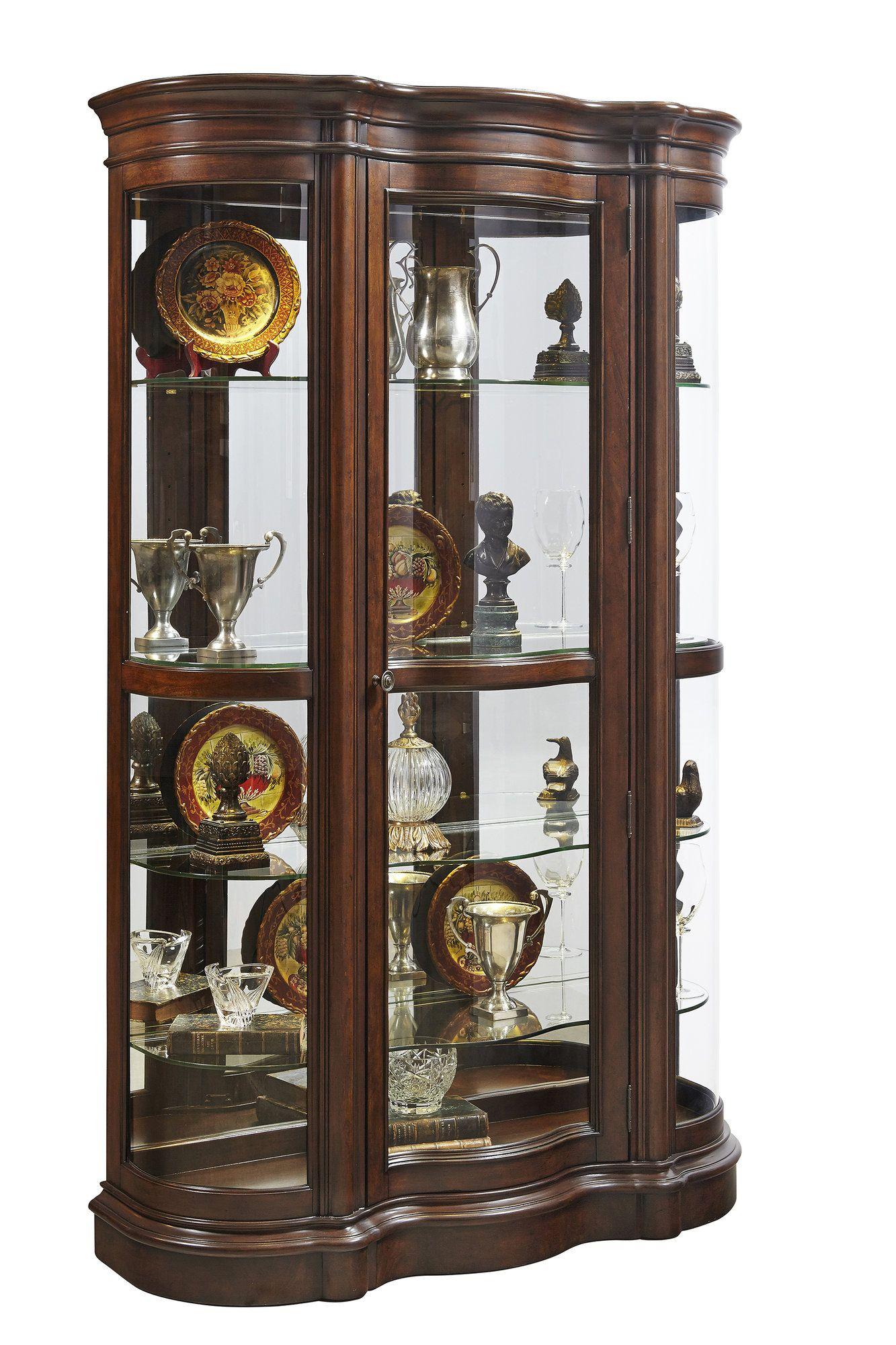 Millhouse Lighted Curio Cabinet Curio Cabinet Pulaski Furniture