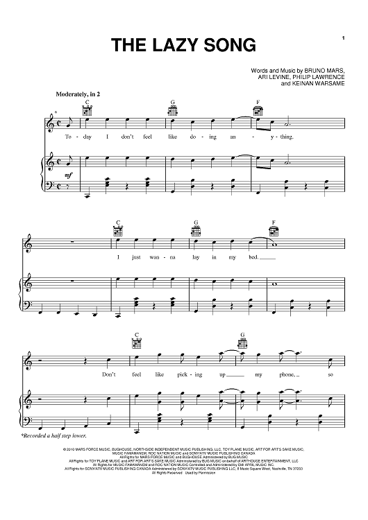The Lazy Song | band in 2019 | Clarinet sheet music, Trumpet
