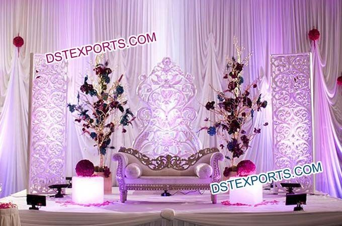 Indian Wedding Stage With Fiber Backdrop Frames Dstexports
