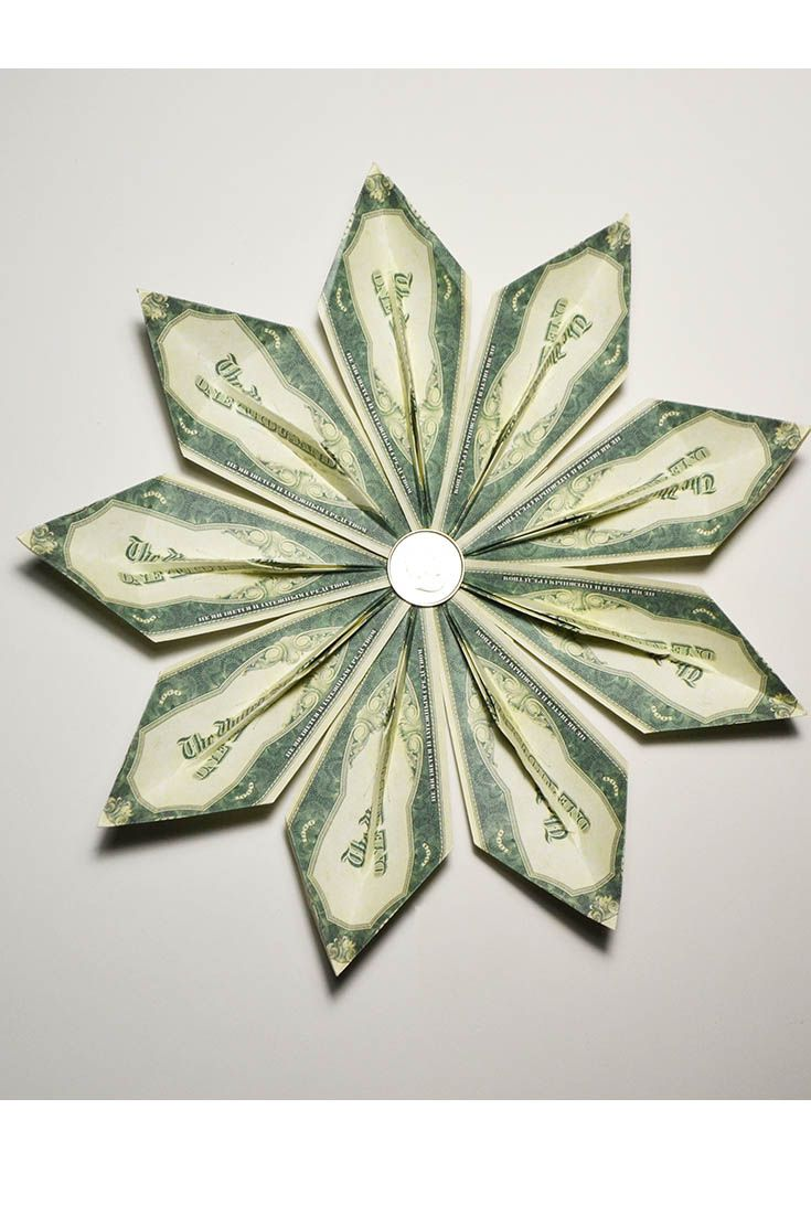 Gold fish simple money flower 9 petals origami dollar folded gold fish simple money flower 9 petals origami dollar folded tutorial diy simple tutorial for creating a flower out of 9 banknotes this flower is mightylinksfo