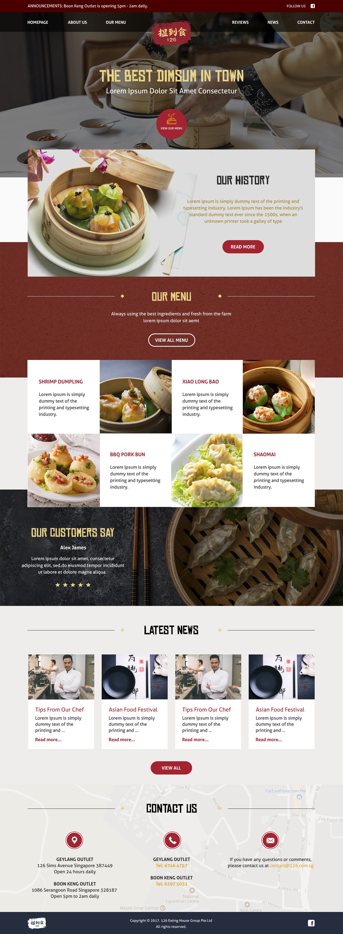 Dimsum Online Shop Design Restaurant Chinese Food Food Website Design Food Web Design Food Website